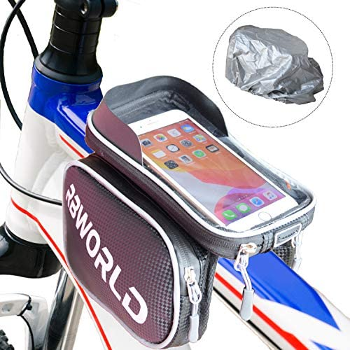 Bike Phone Front Frame Bag with 2 Sub Bags and Rain Cover Waterproof Installation a Touch Screen product image