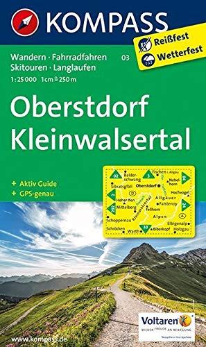 Oberstdorf, Kleinwalsertal: Wanderkarte mit Aktiv Guide, Radwegen, Loipen und alpinen Skitouren. GPS-genau. 1:25000 (KOMPASS-Wanderkarten, Band 3)