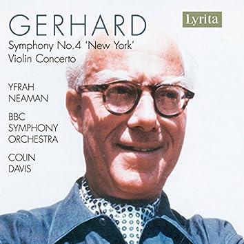 """Gerhard: Symphony No. 4 """"New York"""" & Violin Concerto"""