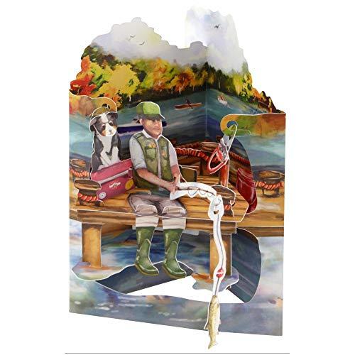 Santoro SC185 3D-Glückwunschkarte zum Angeln