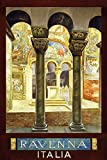 ALIALI KFQCIO - Placa de metal retro con diseño de Ravenna Italia, decoración de pared para patio familiar, café, bar, restaurante, gasolina, 30,5 x 20,3 cm