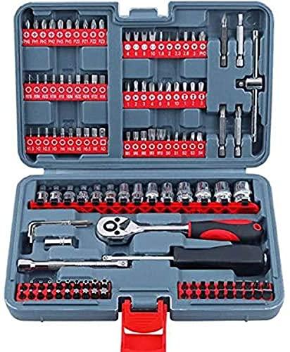 Juego de 126 llaves de 1/4 de herramientas de reparación automática, juego de cabeza de destornillador multifunción y llave de trinquete