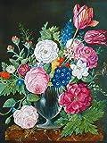 Flor simple rhinestone lirio flor mosaico bordado rhinestone peonía flor punto de cruz hecho a mano pintura diamante A1 45x60cm