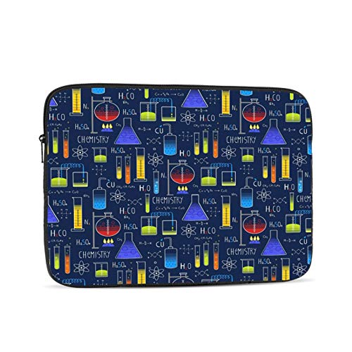 Geek Chic Large Allover Navy Canvas Png Zipper Laptop Sleeve Case Notebook Computer Bag portable Universal Case Sleeve Polyester for 12 Inch