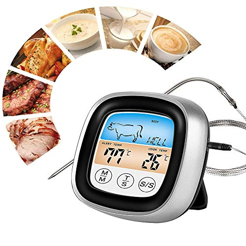 Digital Food Thermometer, Instant Read Meat Cooking Thermometer Touch LED...