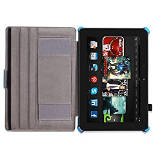 """MoKo Case for Amazon All-New Kindle Fire HDX 8.9"""" - Slim-Fit Multi-angle Stand Cover Case for Kindle Fire HDX 8.9 Inch 2014 Generation and 2013 Gen Tablet, BLUE"""