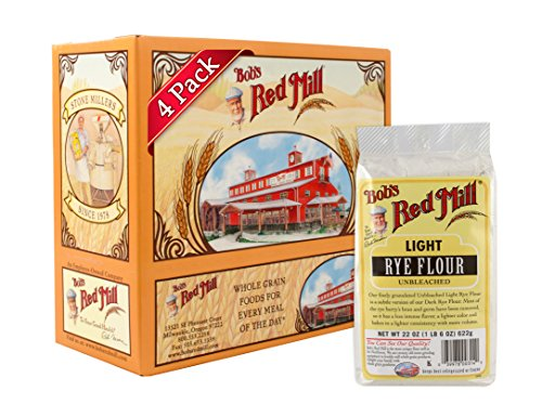 Bob's Red Mill Light Rye Flour, 22-ounce (Pack of 4)