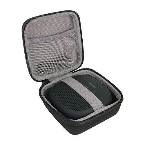 Hart Reise Schutz Hülle Etui Tasche für Bose SoundLink Micro Bluetooth Lautsprecher schwarz/dunkelblau/orange von co2CREA