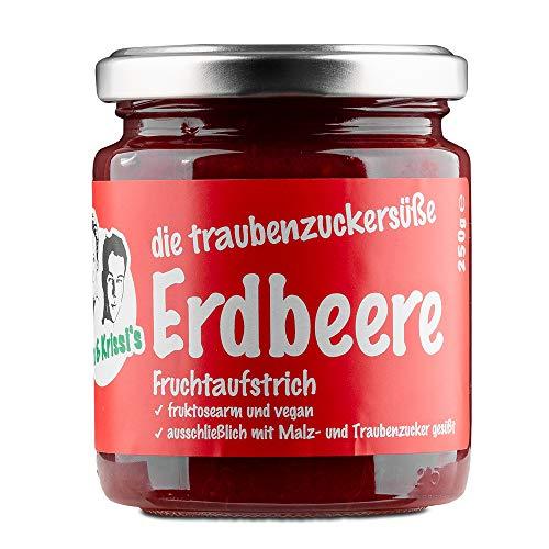 Tom & Krissi's Erdbeere Fruchtaufstrich, 250g - fructosearmer Brotaufstrich, vegan