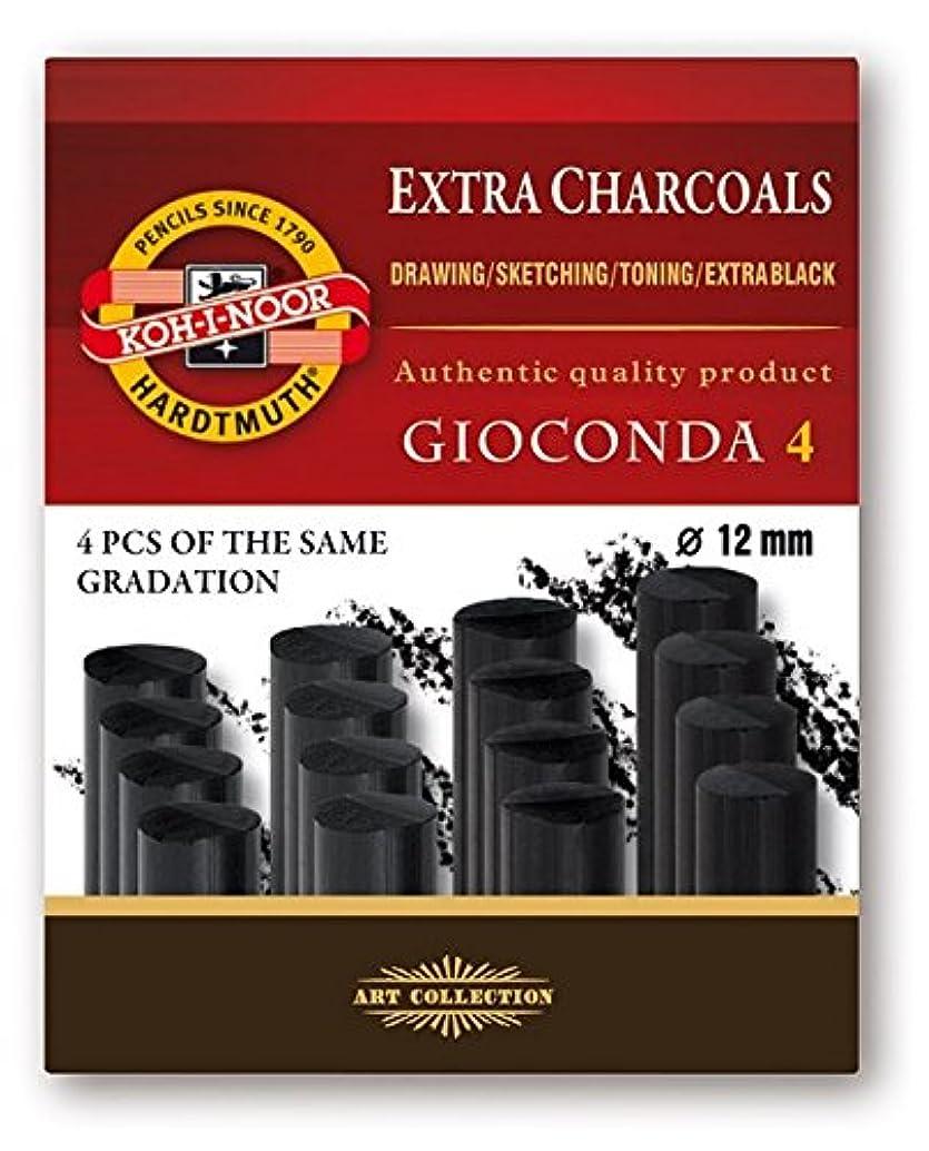 Koh-I-Noor Gioconda 8694 Artificial Extra Charcoals Pack of 4 Soft