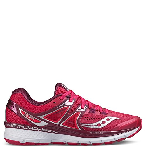 Saucony Triumph ISO 3, Zapatillas de Running para Mujer, (Rosa/Baya Rojo/Plata / Blanco), 38 EU