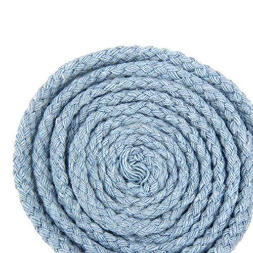 LLAAIT 20Meter 5mm umweltfreundliche 100% Baumwollschnur Hochfestes gedrehtes Baumwollseil DIY Craft Woven String Home Textile Craft Home Decor, Farbe 19, China