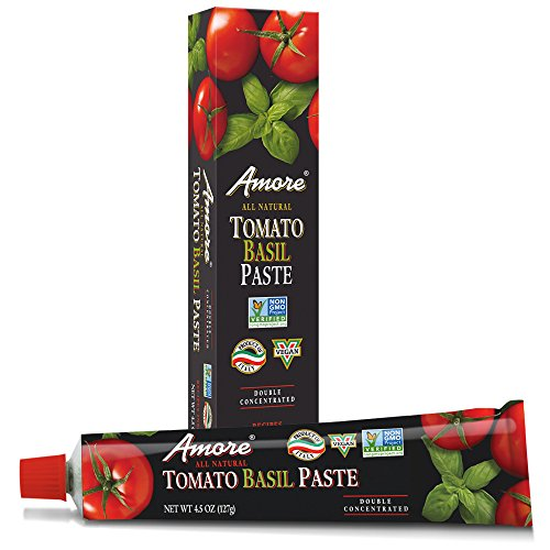 Amore Basil Tomato Paste, 4.5 Ounce Tube