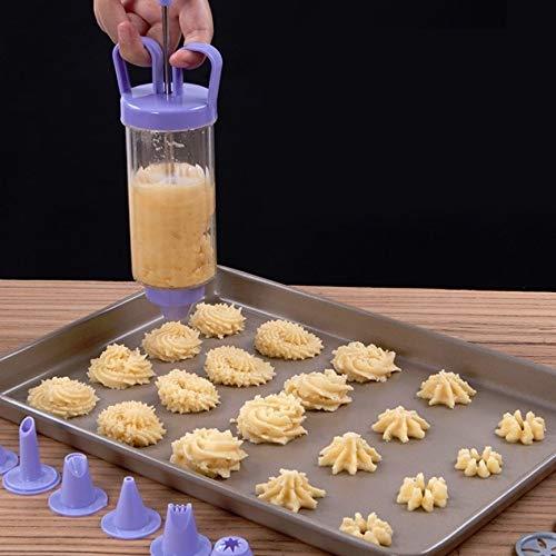 Hanks 'Shop. Cookie Gun + 8 Mouth + 10 Blumen-Stück Set-Biskuit-Form Squeeze Creme...