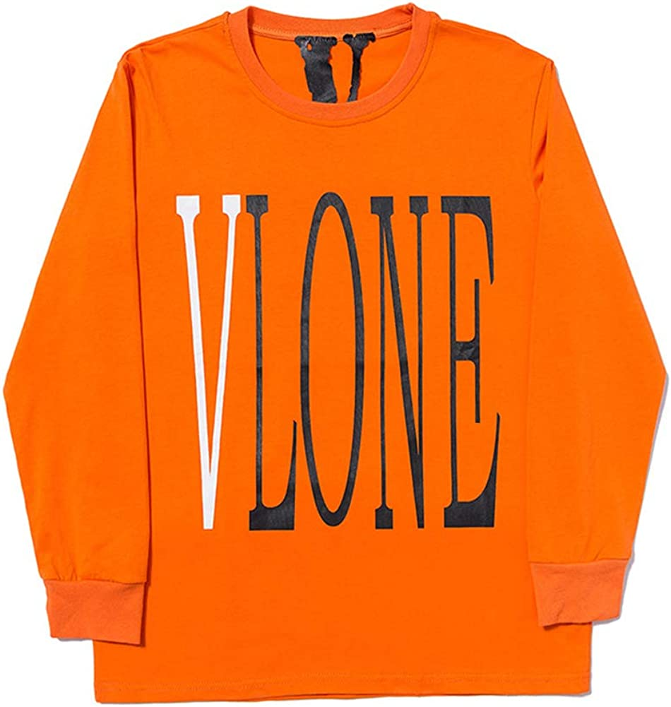 Keren V-Lone Friends Classic co-Branded Big V Printed Pullover Long Sleeve Sweater for Men and Women