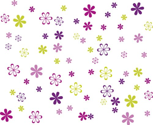 Eurographics Deco Sticker / Wandtattoo DS-DT3046 Jazzy Blooms 25 x 35 cm