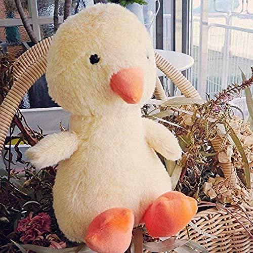 Junsansir Niedliche süße kleine gelbe Ente Puppe Baby Ruß Plüsch Gefüllte Plüschtiere Kinder Schlafspielzeug Geschenk für Mädchen Kinder35cm