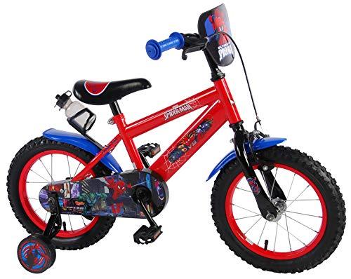 .volare Bicicleta Infantil Niño Chico 14 Pulgadas Spiderman Hombre Araña Freno Delantero...