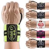 C.P. Sports Wrist Bandage - 30 cm di lunghezza, passante per pollice / chiusura a velcro - taglia unica, 6 colori - fitness, crossfit, sollevamento pesi, bench press, competizione