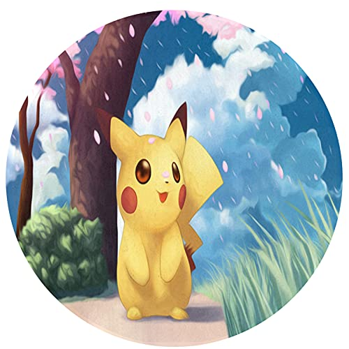 Cute Phones Tapis Pokémon en peluche - Grande couverture douce - Dégradé de teinture - Tapis confortable pour enfants, bébés, salon, chambre à coucher - 60 x 60 cm