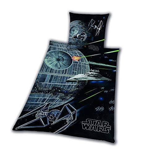 Ropa de Cama Liso Star Wars 8 Estrella de la Muerte Rey Finn Tico Yoda 135 X 200 Nuevo cm Wow - All-In-One-Outlet-24 - -