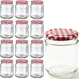 MUQU® Set of 12 Glass Jars - 250...