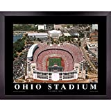 Ohio State University Football Stadium Poster Wall Art Decor Framed Print | 23 x 29 | OSU Buckeyes Columbus Buckeye Field Aerial Posters & Pictures | Fan Gifts for Guys & Girls College Bedroom Walls