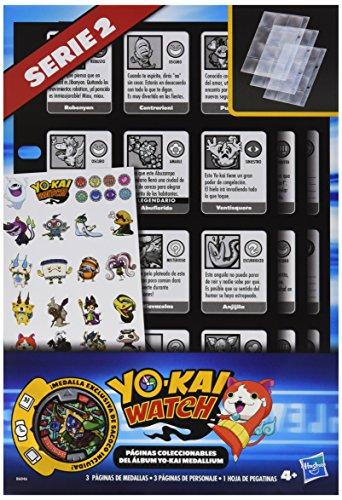 Hasbro B6046 Yokai Watch - Páginas coleccionables álbum Medallium, modelos surtidos, 1 unidad