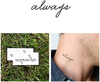 ttify Always Temporary Tattoo - Forever Yours (Set of 2) - Other Styles Available - Fashionable Temporary Tattoos - Long Lasting and Waterproof