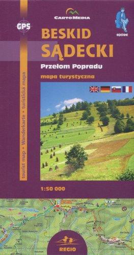 Beskid Sadecki Przelom Popradu Mapa turystyczna 1: 50 000