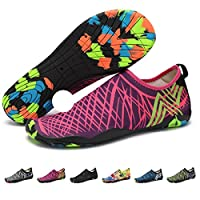 (10.5 UK, Style 2) - Barefoot Water Shoes Mens Womens Quick Dry Unisex Sports Aqua Shoes Lightweight Durable Sole for Beach Pool Sand Swim Surf Yoga Water Exercise