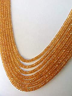 """Jewel Beads Natural Beautiful jewellery 7"""" full strand of AAA Grade Genuine, Top Grade, Great Quality,Orange Garnet Roundels Faceted beads Size 4-7mmCode:- BB-13703"""