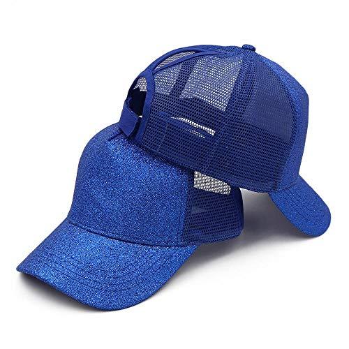 Casquette de baseball tendance en maille filet pour femme, bleu, OneSizeFitsMost