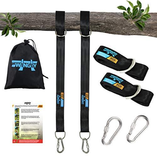 Geprüfte Befestigung für jede Schaukel oder Hängematte in 300cm Länge mit Edelstahl Karabinern extra für Outdoor geeignet