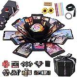 RECUTMS Explosion Box DIY Scrapbooking Set hecho a mano álbum de fotos Aniversario Boda San Valentín Día de la Madre Navidad (Negro)