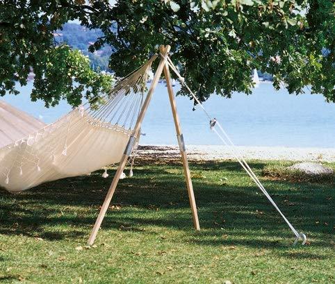 AMAZONAS Hängemattengestell Madera EIN Baumersatz aus Eschenholz ca. 165 cm bis 100 kg