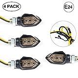EXLECO 4Pcs LED Motorrad Blinker 12V LED Micro Blinker Universal SMD Mini blinker Motorrad mit...