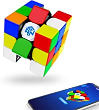 GAN 356 iPlay2 Stickerless, 3x3 Smart Cube Intelligent Tracking Timing Movement Step Speed Cube 3x3(Robot not Included)