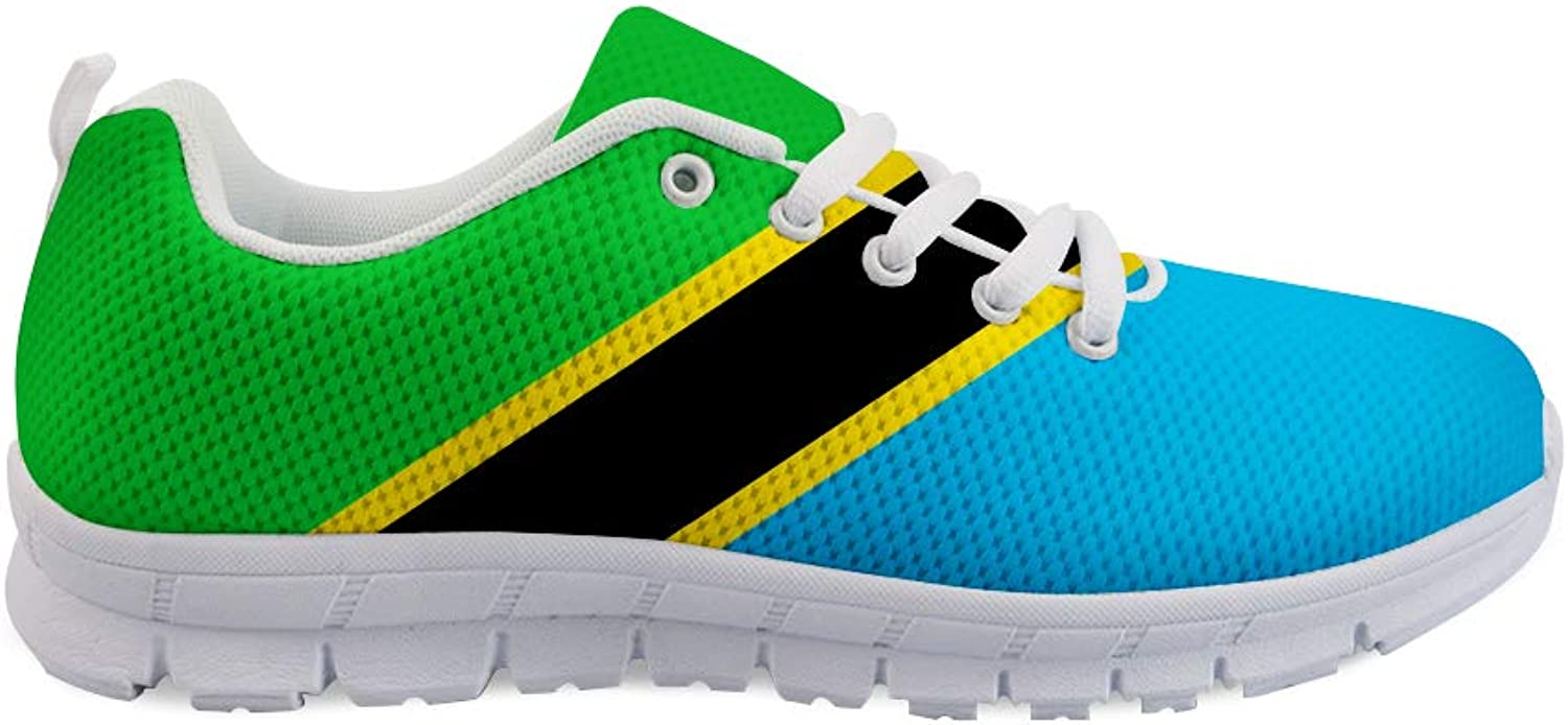 Owaheson Lace-up Sneaker Training shoes Mens Womens Tanzania Flag