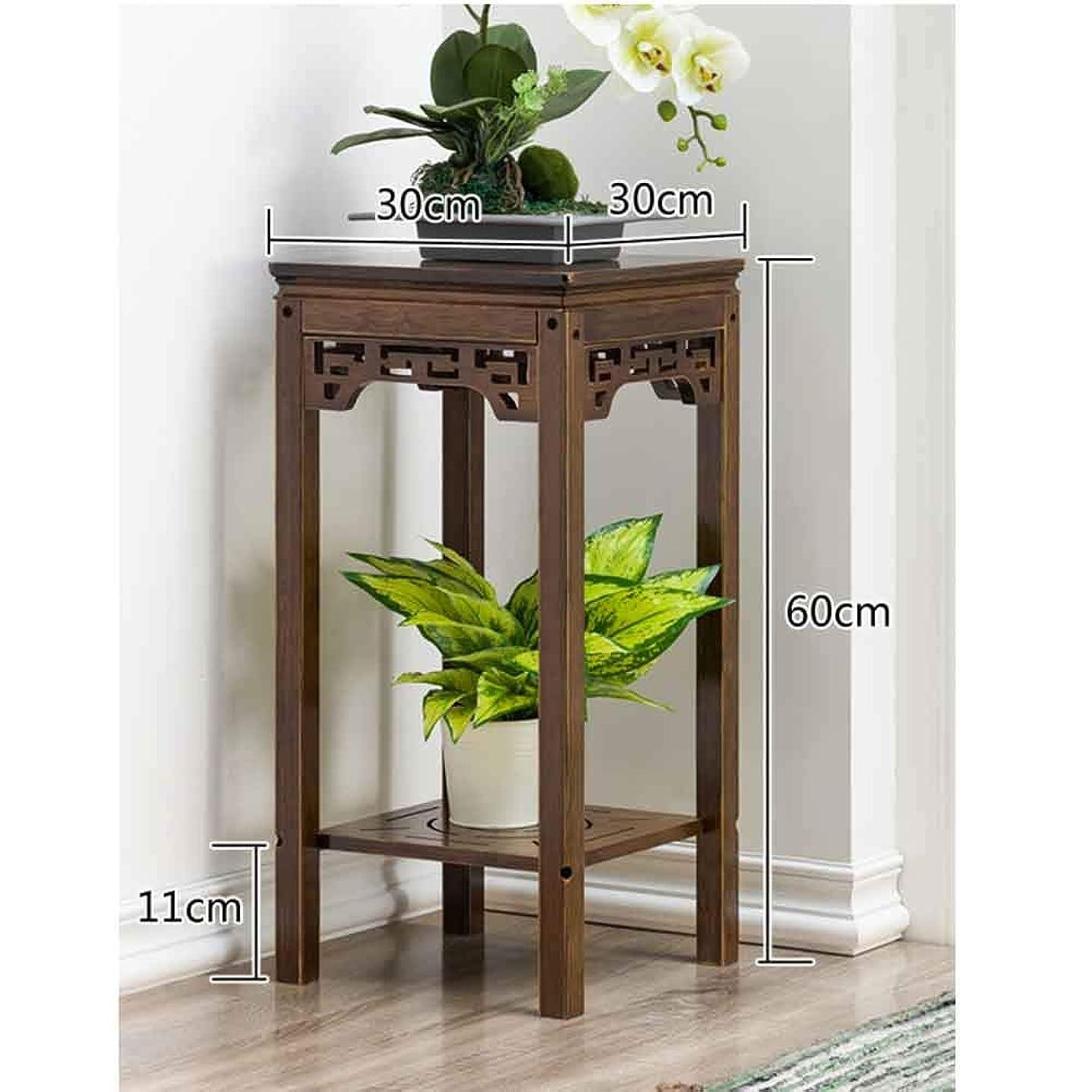 悪化させる支援錫100% 木材 プラントスタンド 中国語 れ フラワー ラック, 環境保護 植物のディスプレイ スタンド ユーティリティ 本棚 木製を棚します。-a 30x30x60cm