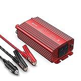 BESTEK 500W Pure Sine Wave Power Inverter DC 12V to AC 230V 240V with 4.2A Dual Smart USB Ports Car Adapter