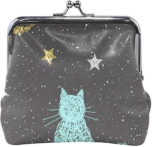 De Li Sheng Münzbörsen für Damen Coin Purse Cats and Dogs Womens Wallet Clutch Bag Girls Small Purse