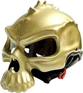 T Seguridad estándar Toda la Temporada protección Profesional Fuerte Locomotora de colisión ,XL Swei Motocicleta cráneo Casco Harley Media Cara Motocicleta Casco D O M, L, XL, XXL