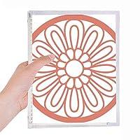 中国の伝統的なパターンの赤い花 硬質プラスチックルーズリーフノートノート