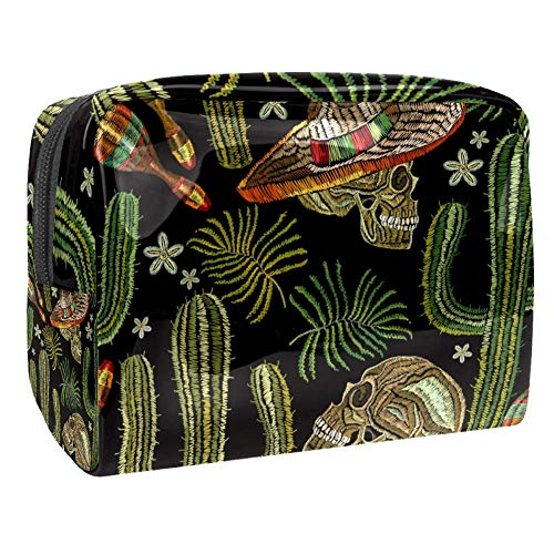 Maquillage Cosmetic Case Multifunction Travel Toiletry Storage Bag Organizer for Women - Broderie Cactus