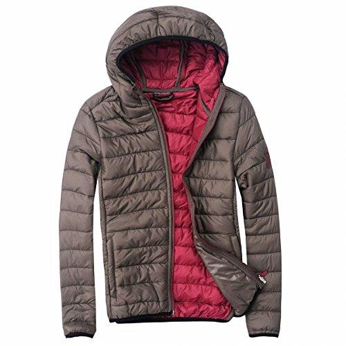 EXUMA Herren Sportbekleidung Aufgeblasen Jacken, Khaki, L