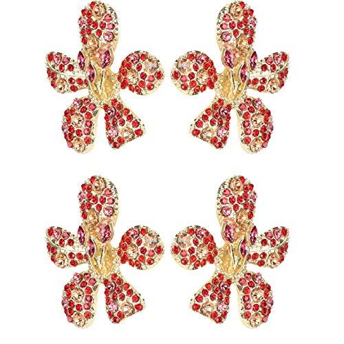 idalinya Joyería Creativa, Hermosos aretes en Forma de Flor en Forma de Flor de aleación, para joyería, Regalos, Mujeres, niñas, Familiares, Amigos