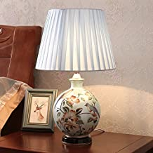 The Modern Ceramic Desk lamp in The Bedroom Bedside lamp of The European Table lamp,E 3W LED Button Switch