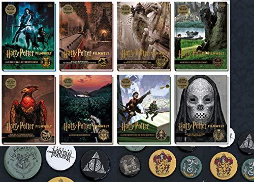 Harry Potter Filmwelt Band 1-8 + 1 Original Harry Potter Button