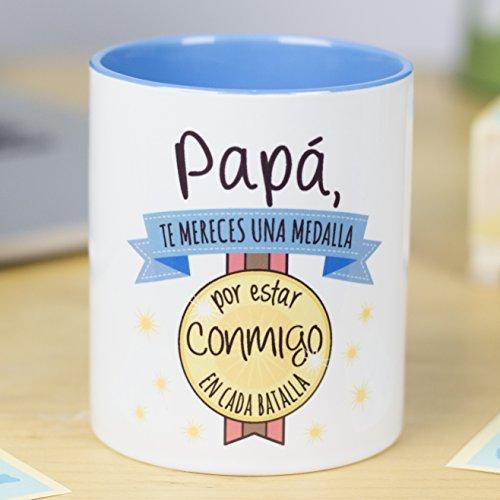 La Mente es Maravillosa - Taza con frase y dibujo divertido (Papá,...